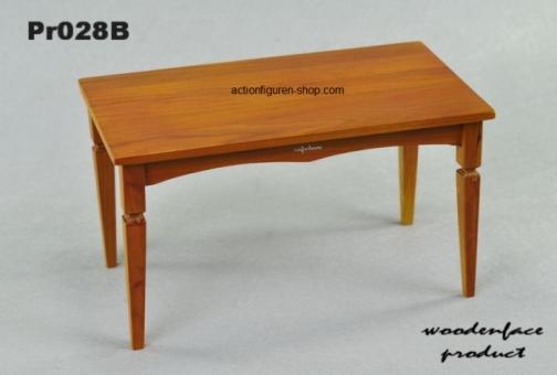 Biedermeier Tisch 2, rot-braun