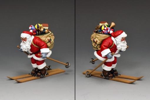Ski-ing Santa