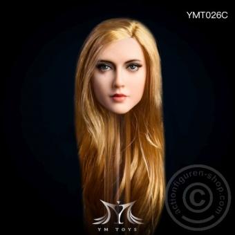 Kopf - blonde lange Haare