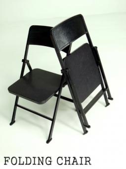 Klappstuhl in schwarz