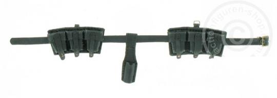 k98 Munitionstaschen Set - echt Leder - Schwarz