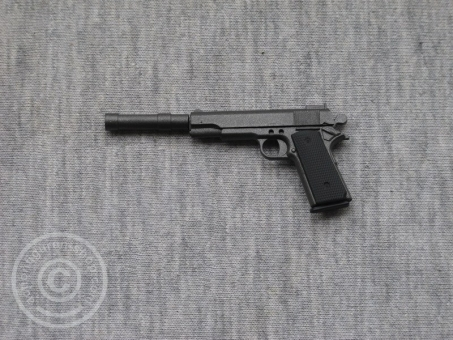 Colt M1911 mit Schalldämpfer - gun-metall