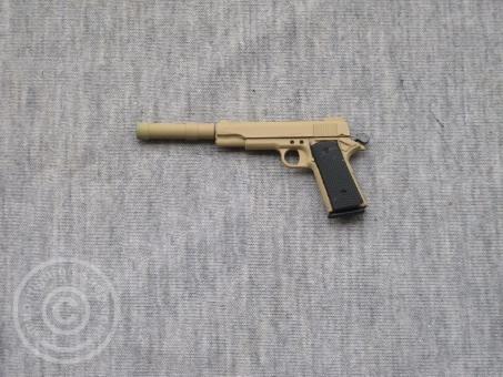 Colt M1911 mit Schalldämpfer - sand