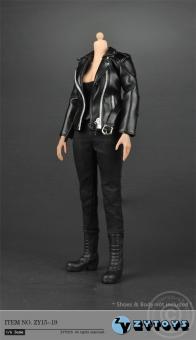 Female Leather Jacket Set