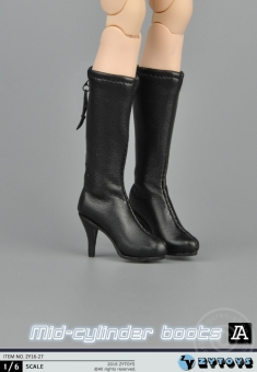 Mid Cylinder Boots - black