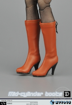 Mid Cylinder Boots - brown