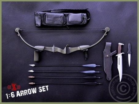 Bogen und Messer Set - Black