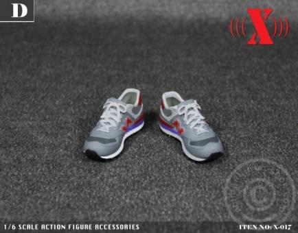 Female Sneaker - red/grey