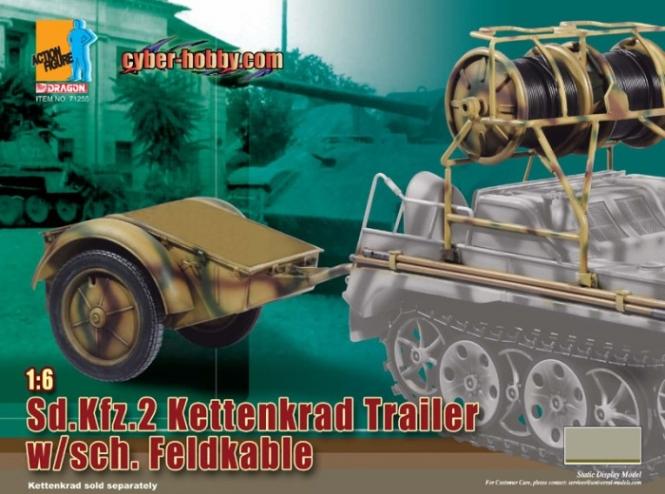 Kettenkrad Trailer w/sch.  Feldkabel Set.