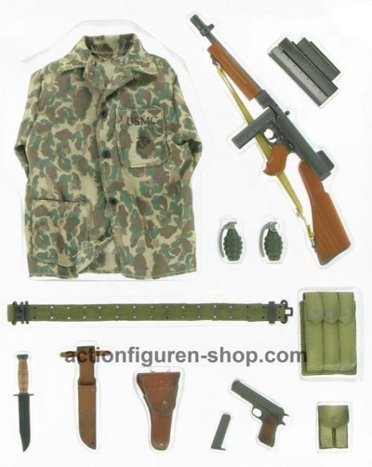 USMC Thompson Submashine Gun M1928Ai Action Pack