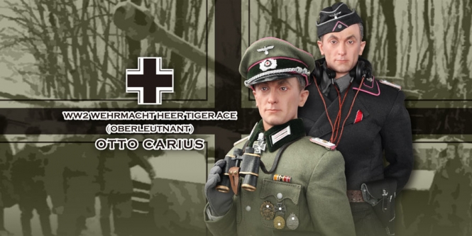 Otto Carius - Graue + Panzer Uniform