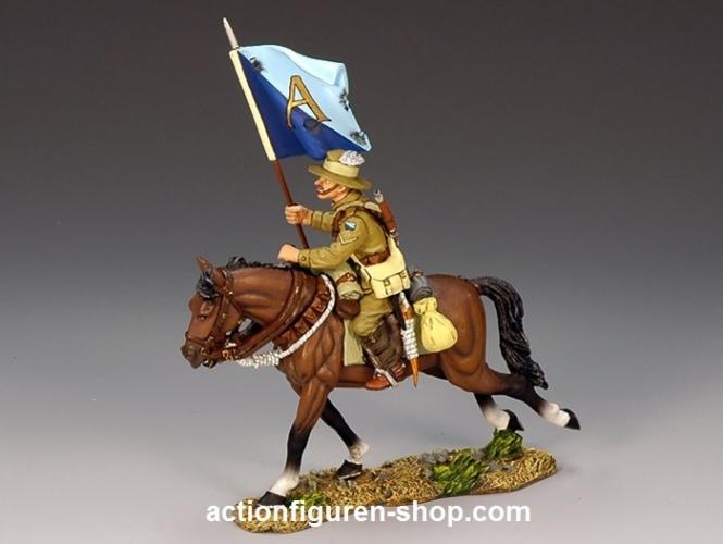 Mounted Australian Flagbearer w/ Squadron Guidon