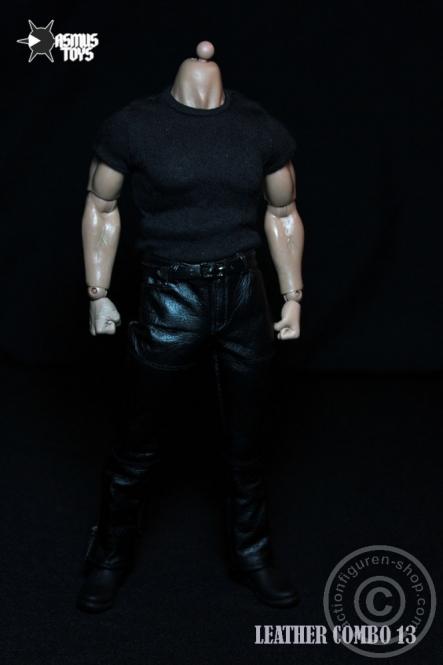 Leder Outfit Set - black