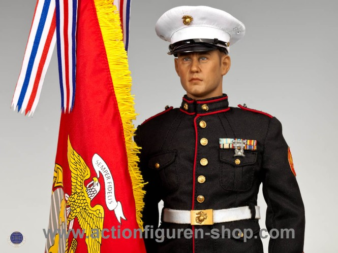 U.S. Marine Corps in Parade Uniform w/ M1 Garand