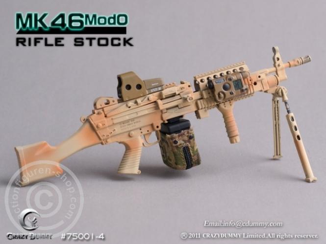 MK46MOD0-rifle stock - camouflage