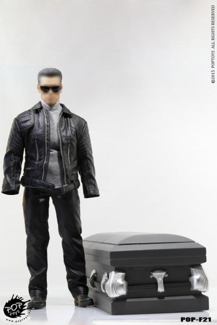 Terminator Outfit Set mit Sarg
