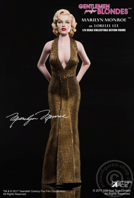 Merilyn Monroe -  in Gold Dress