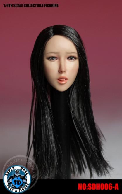 Female Head - black Hair