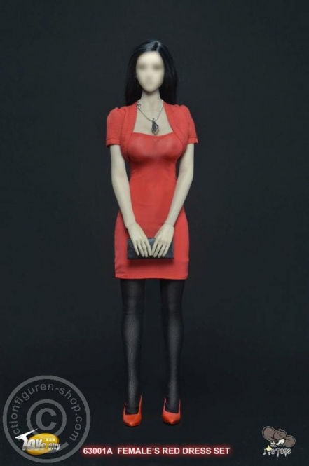 Sexy Female Party Dress - Rot
