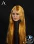 Female Head - long glossy Gold Hair