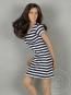 Black and White Stripes Mini Dress