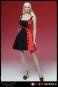 Kleid mit High Heels - rot/schwarz
