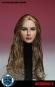 Female Head - long curly brown Hair