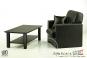 Sessel mit Tisch - schwarz - für 1:6 Figuren