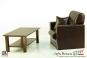 Sessel mit Tisch - braun - für 1:6 Figuren