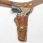 Holster für Colt .45 - red-brown leather w/brass