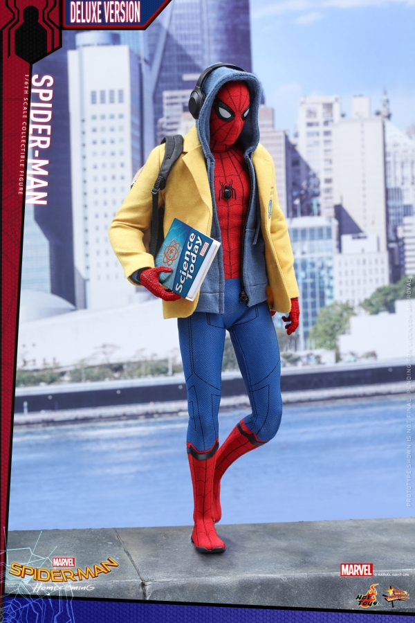 Hot Toys MMS426 SPIDER-MAN Homecoming Deluxe Ver Figure 1//6 Blue ZIP-UP Hoodie