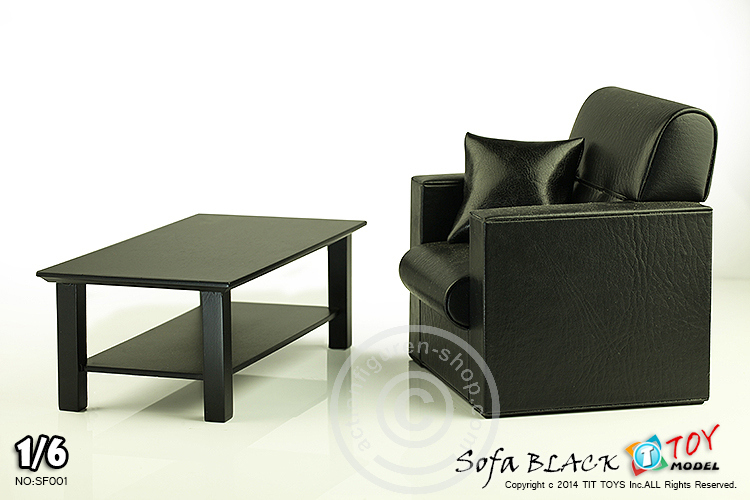 sessel mit tisch schwarz f r 1 6 figuren online 1 6 figuren. Black Bedroom Furniture Sets. Home Design Ideas